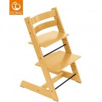 """Chaise haute Tripp Trapp en bois """"Jaune Tournesol"""""""