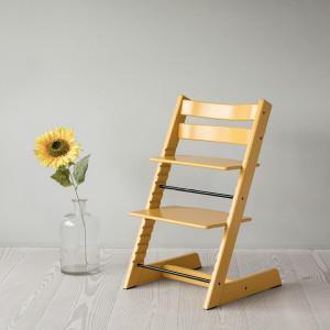"Chaise haute Tripp Trapp en bois ""Jaune Tournesol"" Stokke"