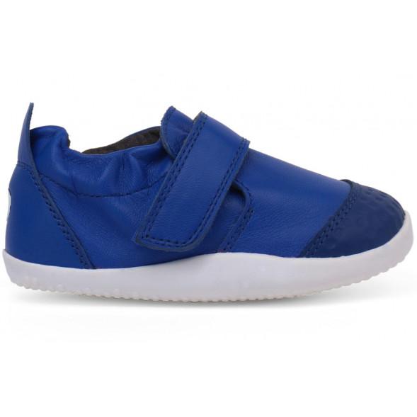 """Chaussures pré-marche en cuir Xplorer Go """"Bleu Blueberry"""""""
