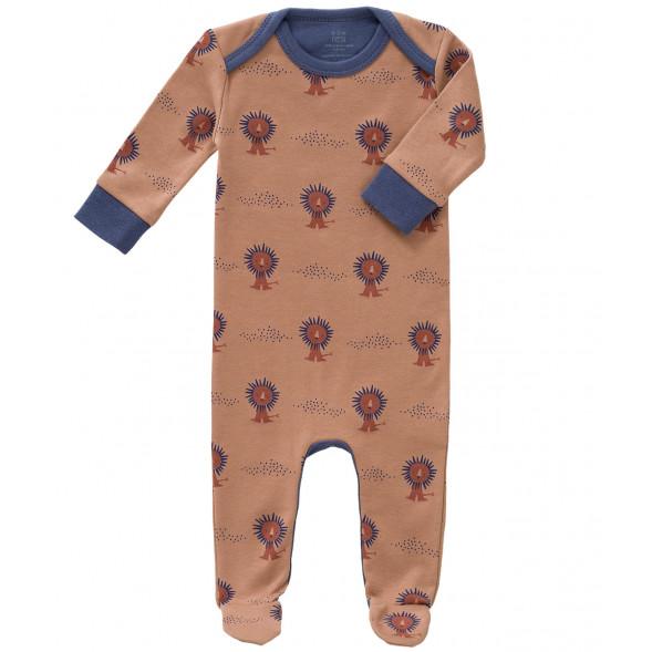 """Pyjama bébé avec pieds en coton bio """"Lion"""""""