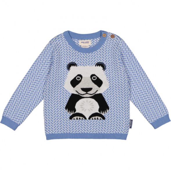 """Pull Tricot en laine et coton bio """"Mibo Panda"""""""