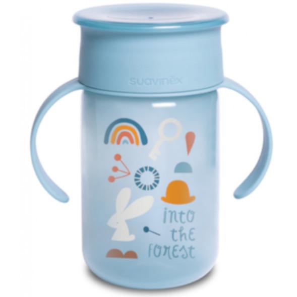 """Tasse d'apprentissage Trainer Cup 360° à anses """"Forest Bleu"""" (340 ml)"""