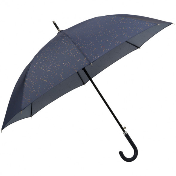 """Parapluie en PET Recyclé et simili-cuir """"Pois Indigo"""""""