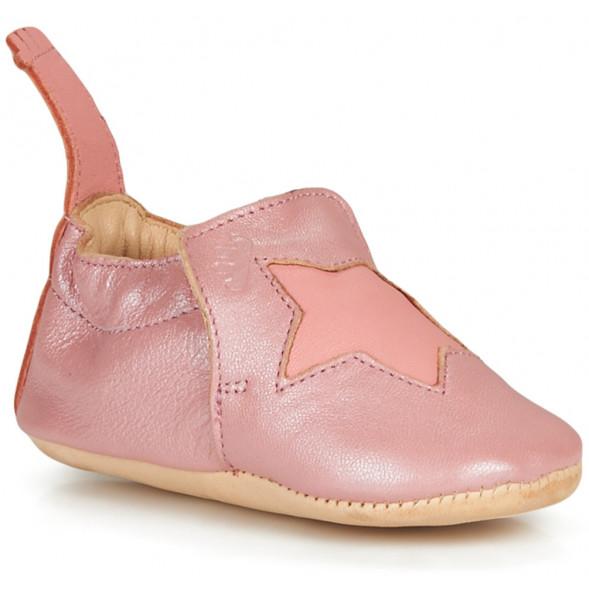 "Chaussons bébé en cuir Blumoo ""Etoile Powder Coral"""