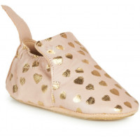 """Chaussons bébé en cuir Blumoo """"Lovely Rose Baba Or"""" Easy Peasy"""