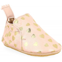 """Chaussons bébé fille en cuir Blublu """"Lovely Rose Baba Or"""" Easy Peasy"""