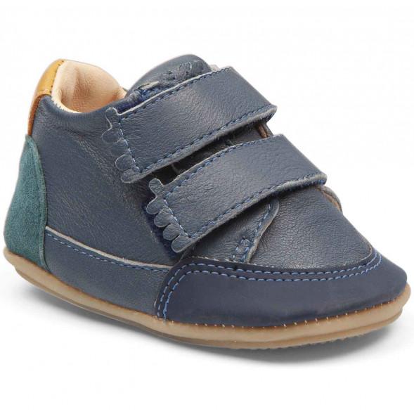 "Chaussures pré-marche en cuir Irun B ""Denim"""