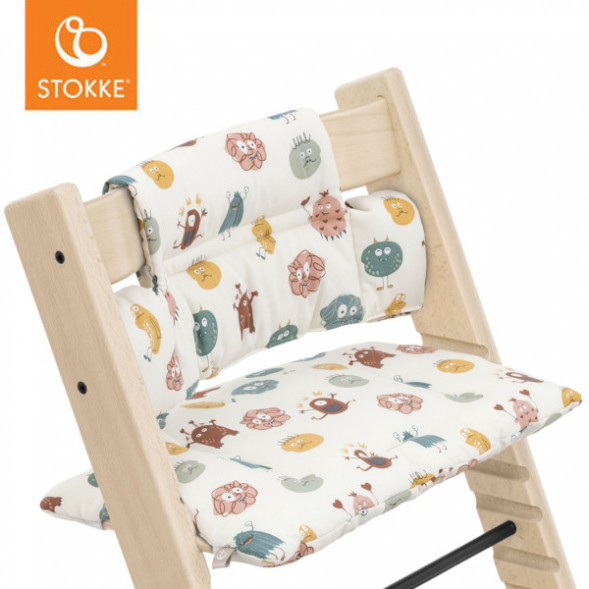 """Coussin Tripp trapp en coton bio """"Silly Monsters"""""""
