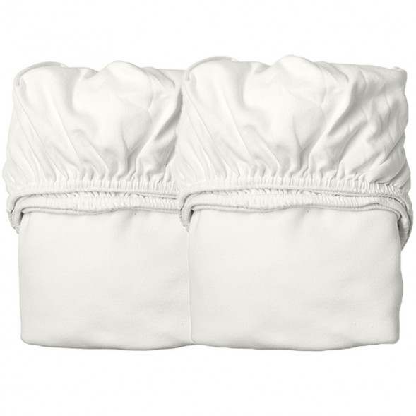 """Draps housse pour lit Linea """"Blanc"""" (x2)"""
