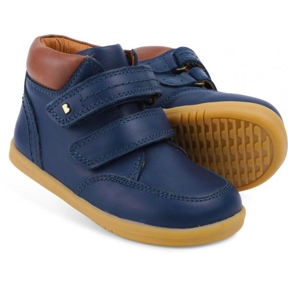 """Chaussures en cuir Step Up """"Timber"""" Bleu Navy"""