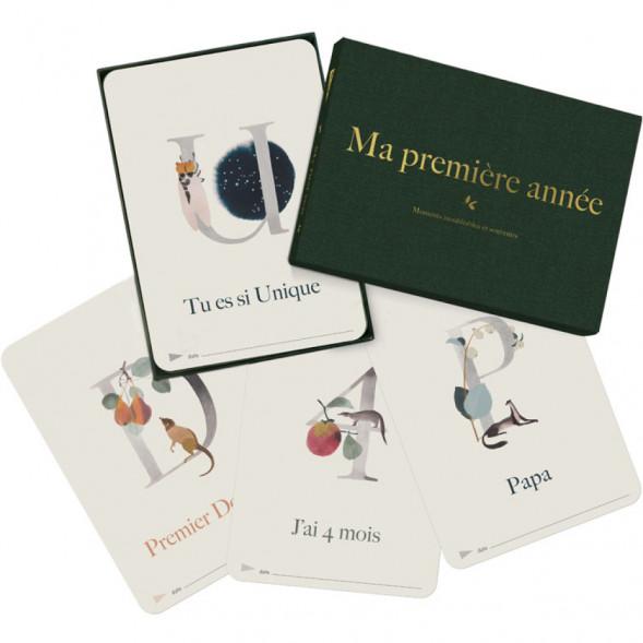 """Cartes souvenir bébé """"Ma première année Collection Luxe ABC"""""""