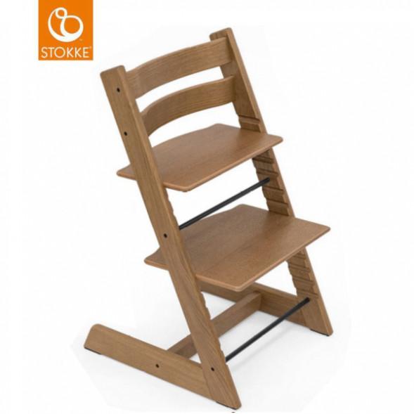 "Chaise Haute Tripp Trapp en bois de chêne ""Brun"""