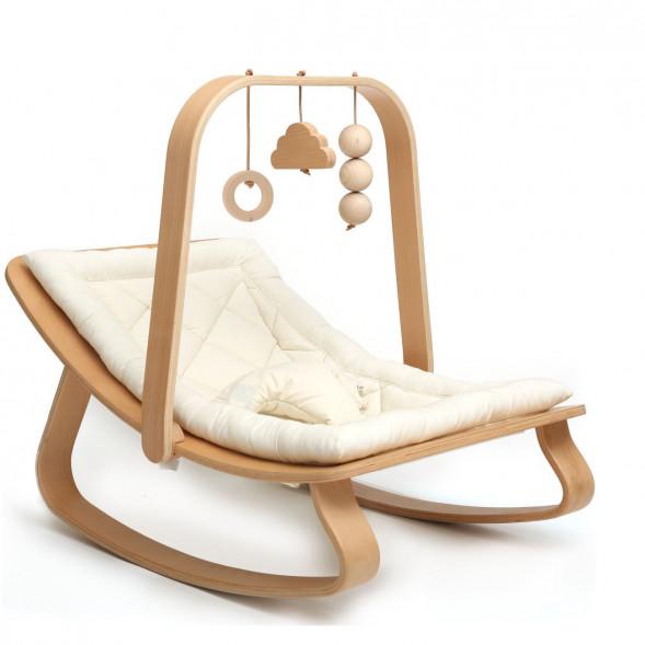Transat Levo + Assise au choix + Arche d'éveil en bois de hêtre