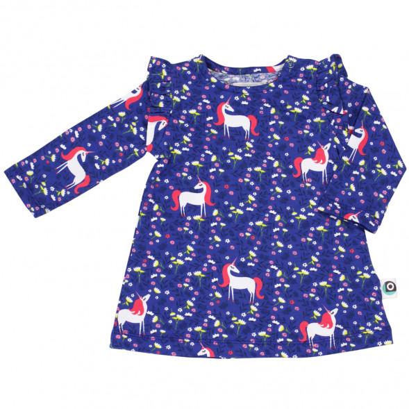 """Robe bébé en coton bio Caro """"Licorne"""""""