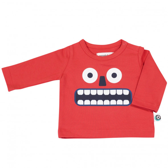 "T-shirt bébé en coton bio Emiel ""Happy"""