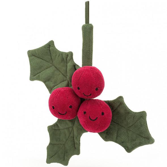 Peluche Amuseable Houx de Noël (22 cm)