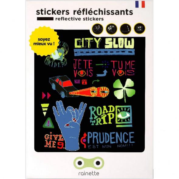 """Stickers réflechissants pour vélo et accessoires """"CitySlow"""""""