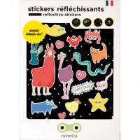 """Stickers réflechissants pour vélo et accessoires enfant """"Super Héros"""" Rainette"""