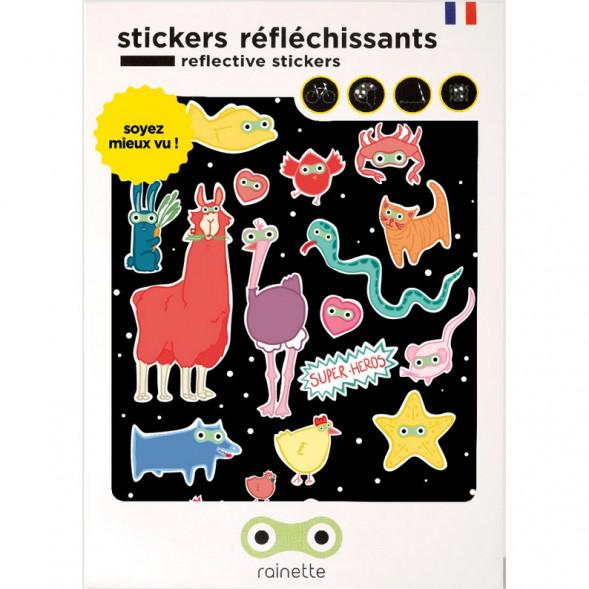 """Stickers réflechissants pour vélo et accessoires """"Super Héros"""""""