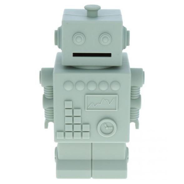 """Tirelire en silicone Robot """"Vert Lichen"""""""