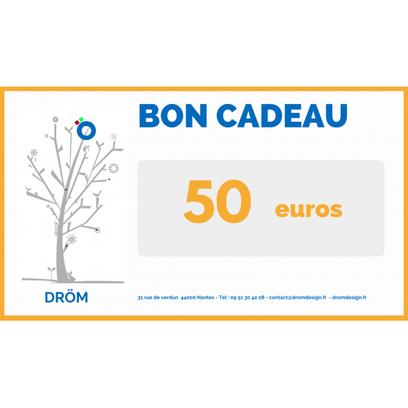 Bon cadeau Boutique de 50 Euros