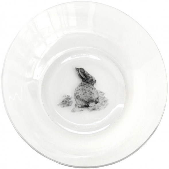 """Assiette creuse en verre """"Lapin"""" (17,5 cm)"""