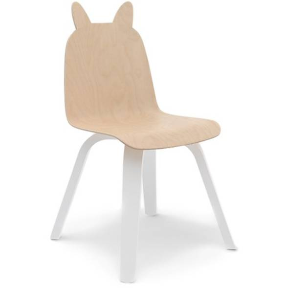 "Chaise enfant en bois scandinave ""Play Lapin"" (x 2) - Bouleau - Oeuf NYC"