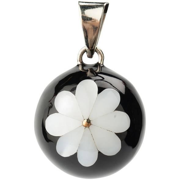 Bola noir grande fleur blanche - babylonia