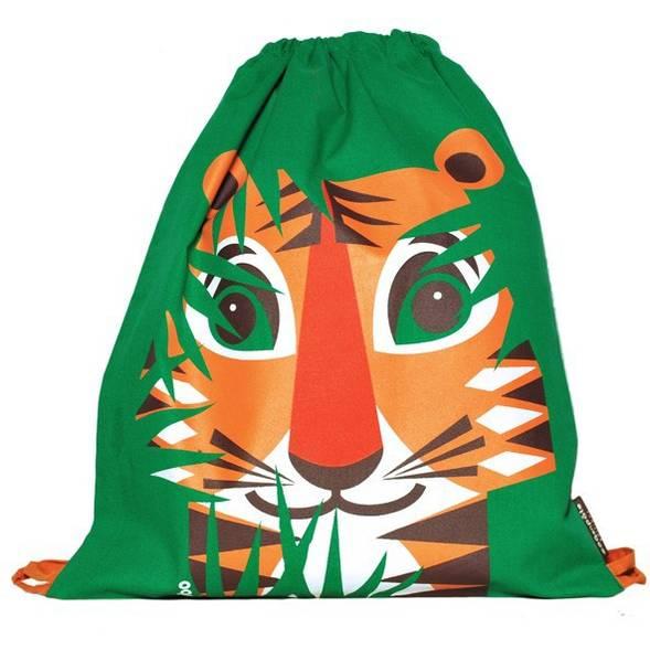 Sac d'activités enfant en coton bio Mibo Tigre